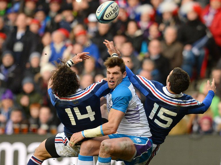 Sean Lamont: Injured his knee against the French