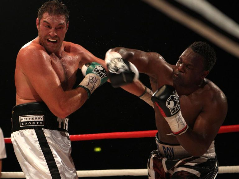Tyson Fury (l) is the favourite to beat Chisora in July's rematch