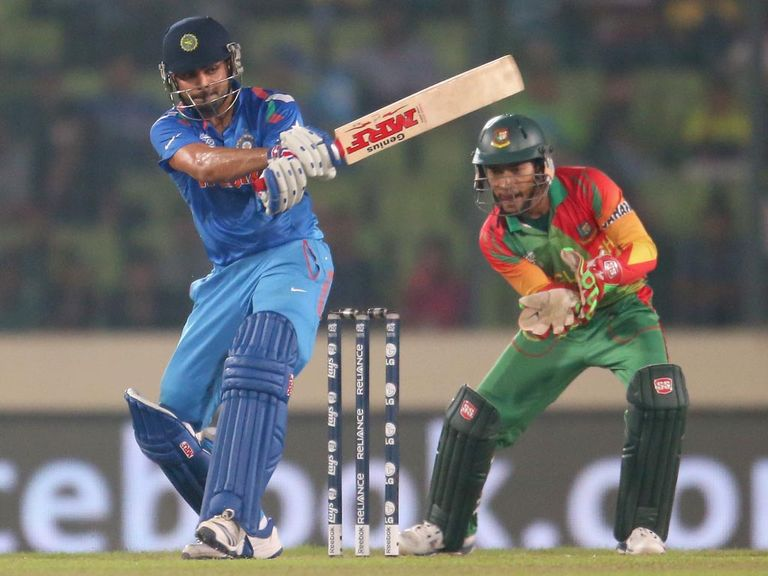 Virat Kohli: Guided India home with 57 not out