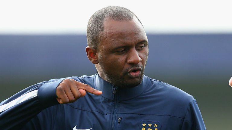 Patrick Vieira: Led City's youngsters off the pitch after alleged racial abuse