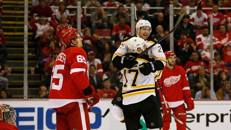 Jarome Iginla's overtime winner gave Boston a 3-2 win over Detroit