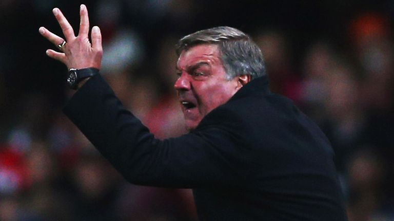 Sam Allardyce: West Ham boss under pressure after four straight defeats