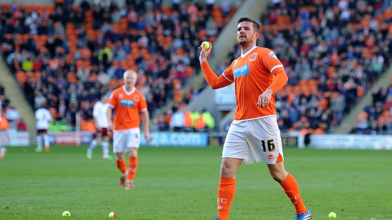 Barry Ferguson: Returns some of the tennis balls thrown in protest