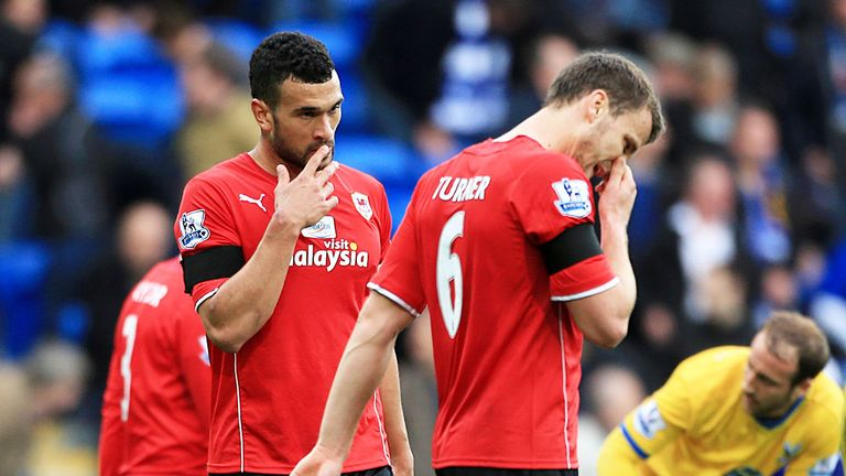 Cardiff: Suffered a damaging 3-0 loss to Crystal Palace on 5 April