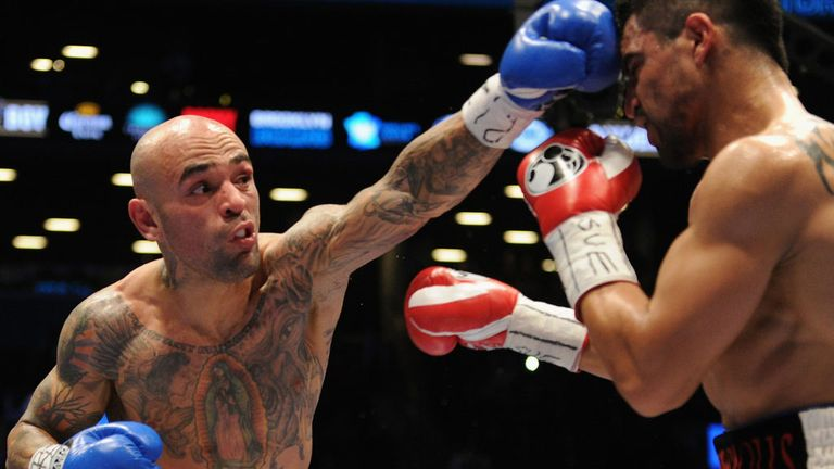 Collazo catches Victor Ortiz during their WBA International welterweight clash in January