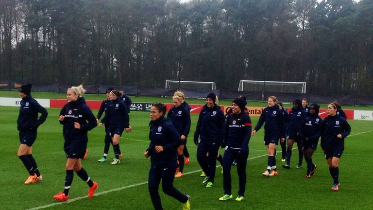 England women in training