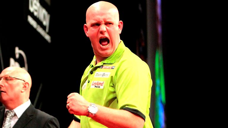 Van Gerwen: faces Steve Beaton on the opening night