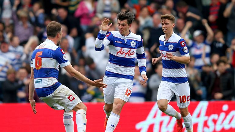 Joey Barton (c): Celebrates his opening goal
