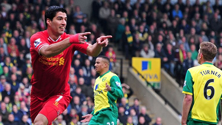 Luis Suarez: Liverpool striker is the top goal scorer in the Premier League this season