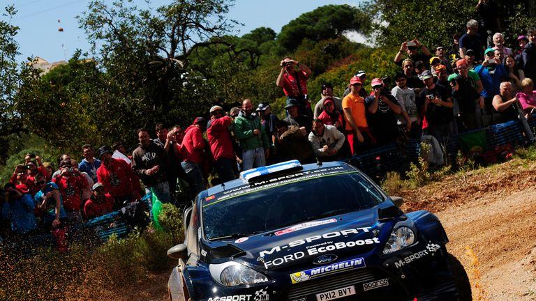 Mikko Hirvonen in action in Portugal