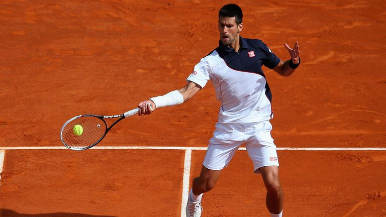 Novak Djokovic: Looking to claim his third title at the Rome Masters