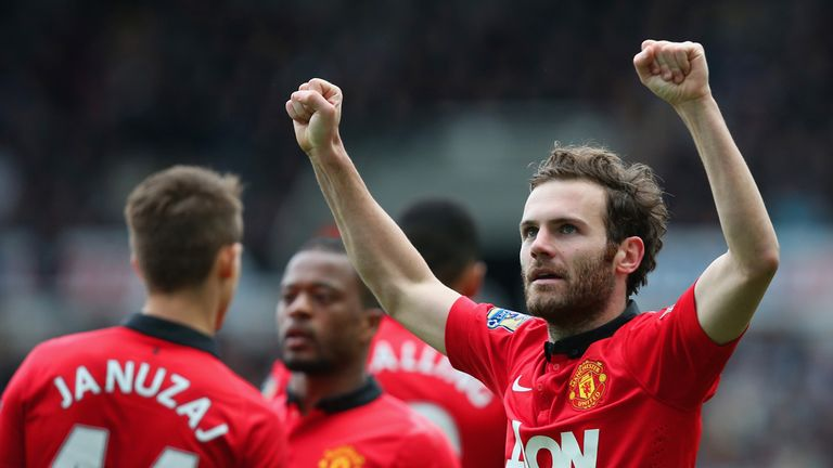 Juan Mata: Helped Manchester United to a 4-0 success over Newcastle