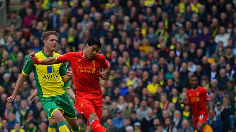 Luis Suarez had an excellent scoring record against Norwich