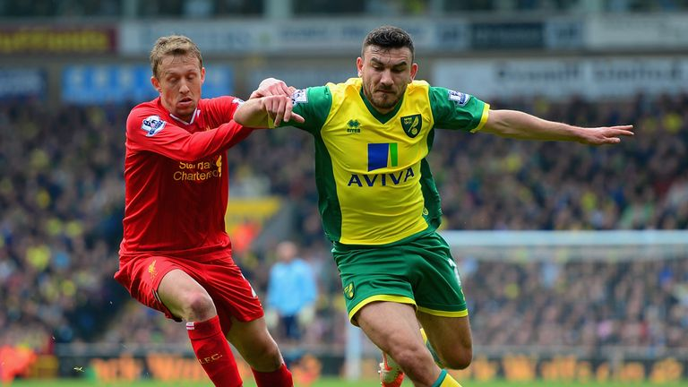 Robert Snodgrass: Norwich midfielder encouraged by second-half display against Liverpool