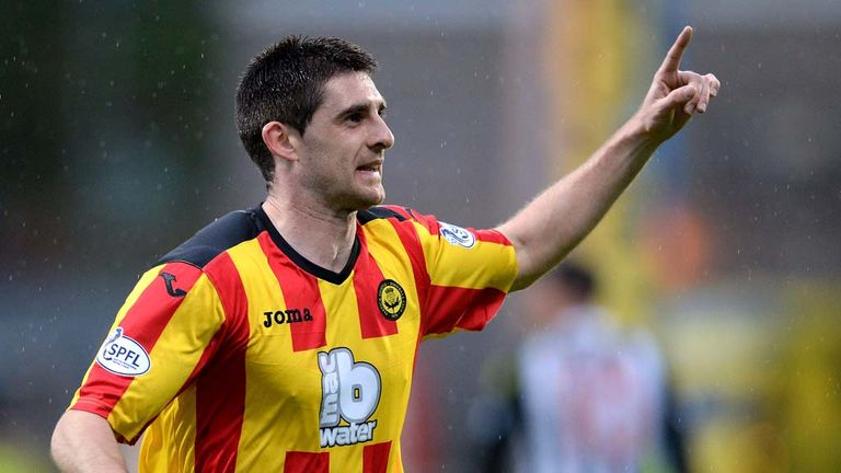 Partick's Kris Doolan celebrates scoring the opening goal