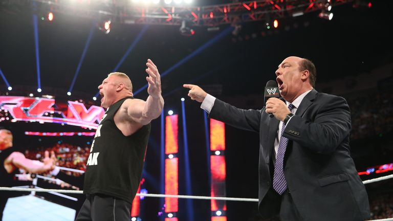 Heyman has masterminded much of Lesnar's WWE run