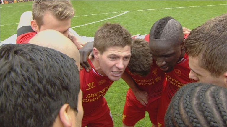 Gerrard: Delivered an emotional message to his team-mates after the game