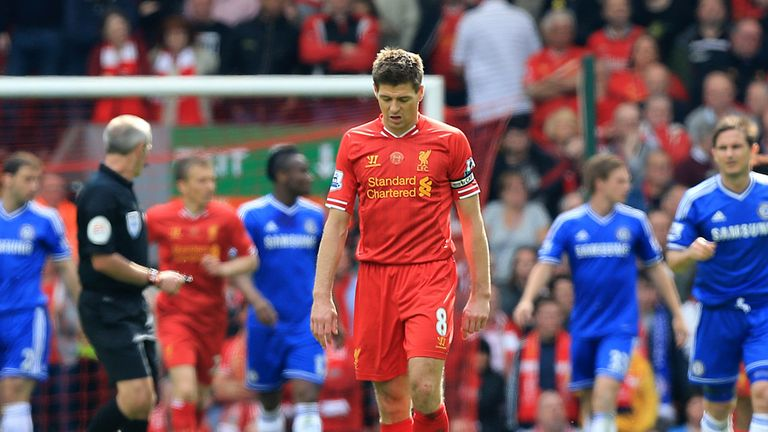 Steven Gerrard's tumble allowed Chelsea to take the lead at Anfield