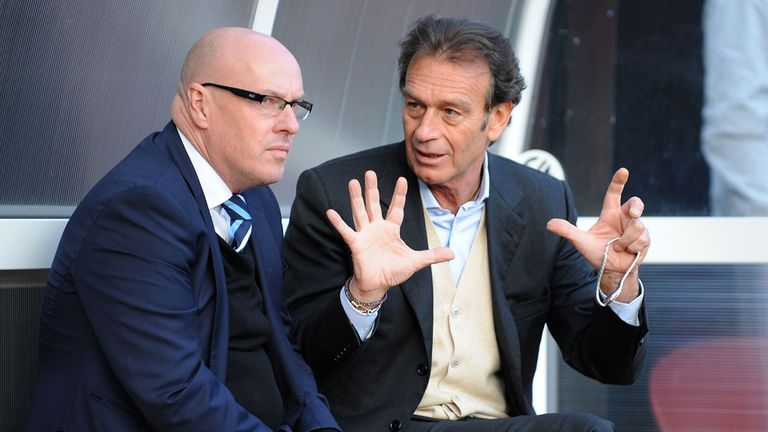 Massimo Cellino (right) plans to give Brian McDermott a chance to impress at Leeds