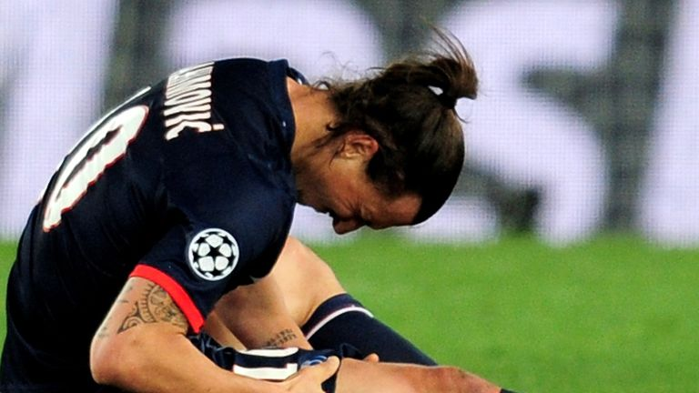 Zlatan Ibrahimovic: Will miss the second leg against Chelsea