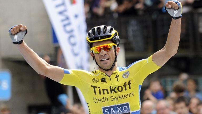 Alberto Contador dropped rival Alejandro Valverde on the final climb