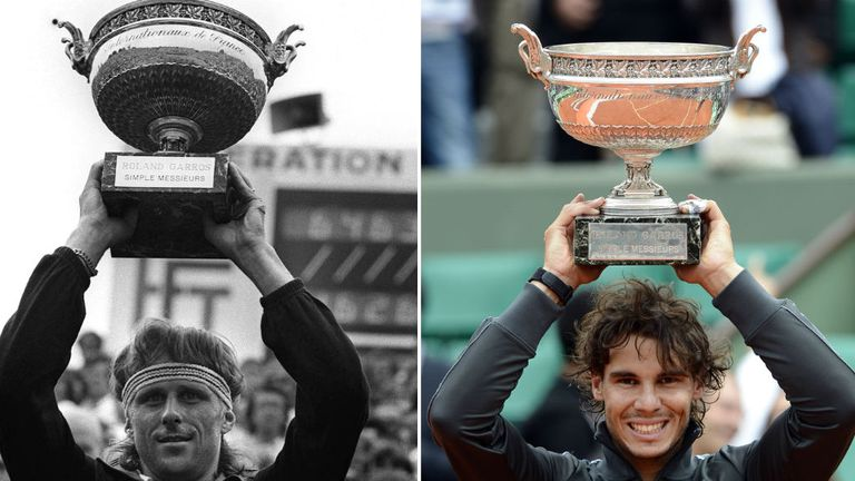 Sweden's Bjorn Borg and Spain's Rafael Nadal have shared 15 Roland Garros titles between them