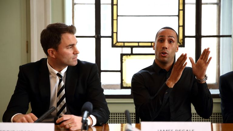 James DeGale signs for Matchroom Sport in a perfect move, says Johnny