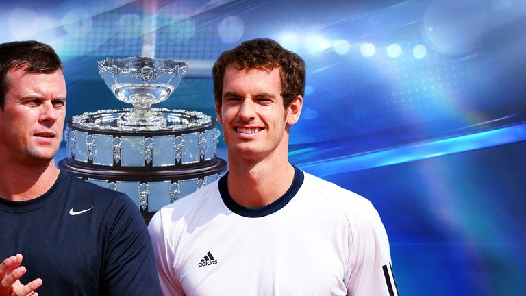Great Britain captain Leon Smith and No 1 Andy Murray go into battle against Italy in Naples