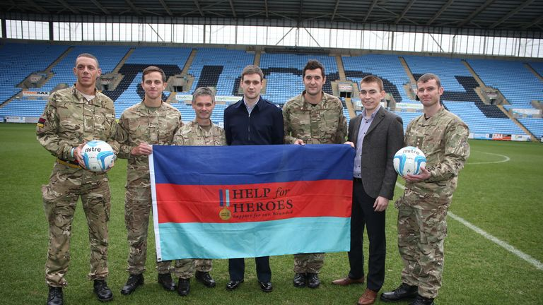 The legends will take on the military at the Ricoh Arena