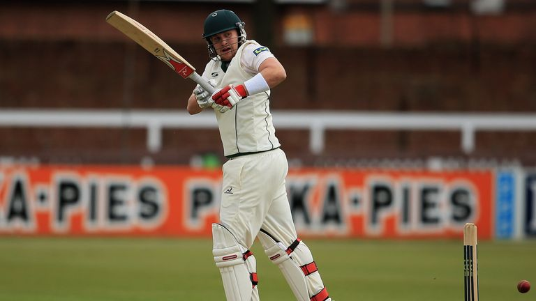 Josh Cobb: One run short of a half-century at the close of play at Grace Road