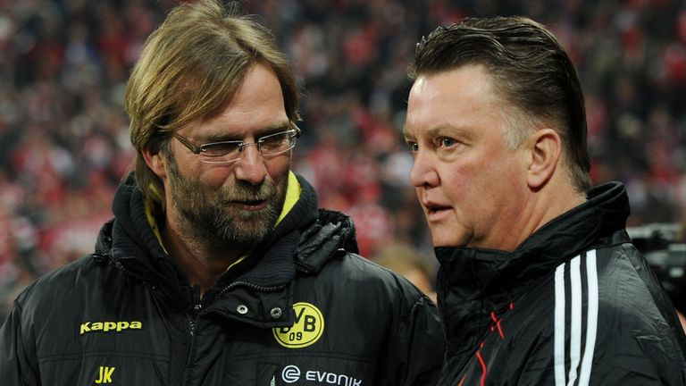 Klopp had success against Louis van Gaal in the Bundesliga