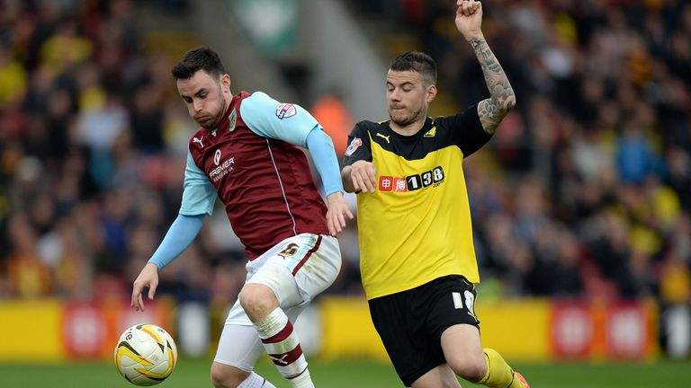 Luke O'Neill (l): Has signed a new deal with Burnley