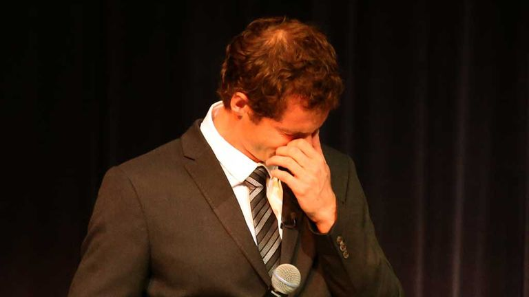 Andy Murray: Emotional day on his return to Scotland