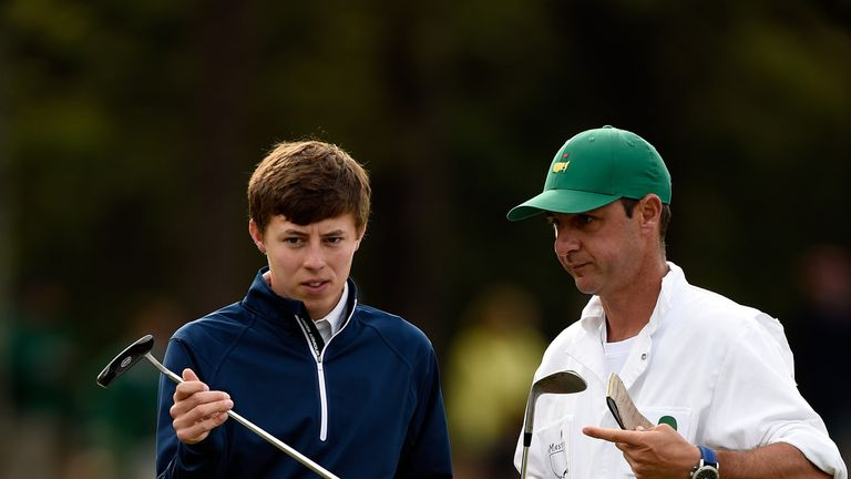 Amateur Matt Fitzpatrick with new caddie Ricky Elliott