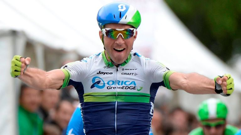 Michael Albasini won a reduced-bunch sprint on stage one