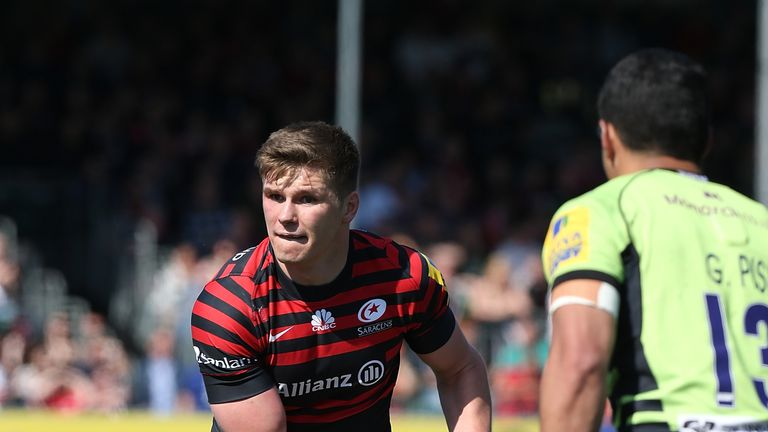 Owen Farrell: has injury concerns ahead of the end of the season