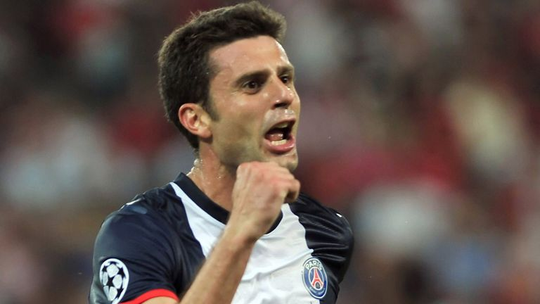 Thiago Motta: Headbutted by Brazilian striker Brandao after PSG's 2-0 win over SC Bastia on Saturday.