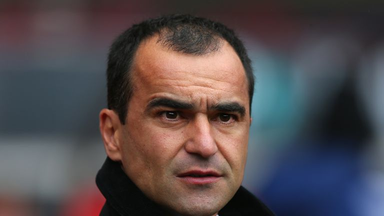 Roberto Martinez: Saw Everton slump to defeat