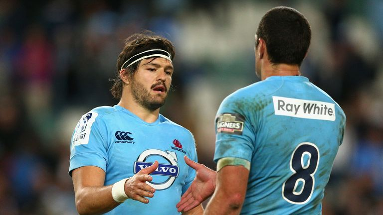 Adam Ashley-Cooper (left): Tryscorer in Waratahs rout of Lions