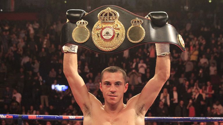 Scott Quigg celebrates another quick victory in Manchester