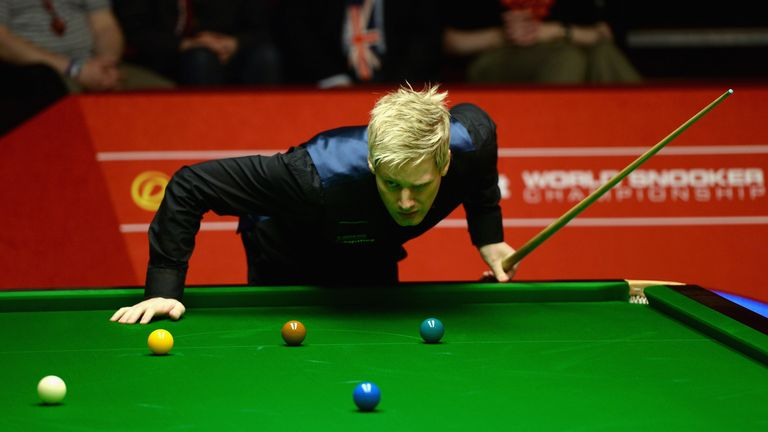 Neil Robertson: Australian twice faltered with a 100th century break of the season in sight