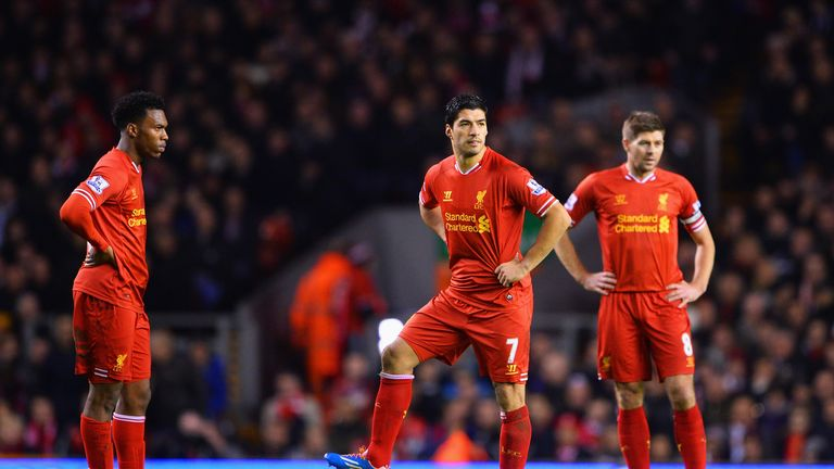 Luis Suarez, Daniel Sturridge and Steven Gerrard are among the WhoScored nominees