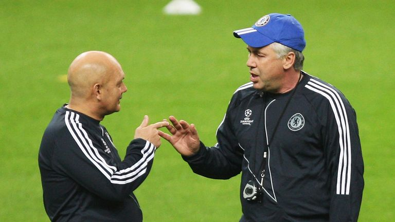 Ray Wilkins and Carlo Ancelotti worked together at Chelsea