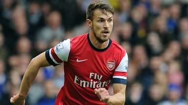 Aaron Ramsey: Returned to action at Goodison
