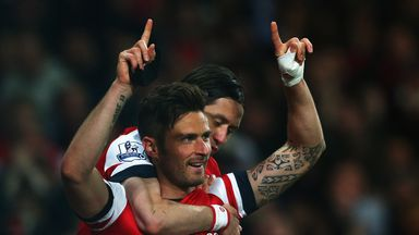 Olivier Giroud: Delighted to break 20-goal barrier