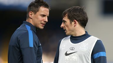 Phil Jagielka (l): Should be fit enough to join Leighton Baines in Everton squad