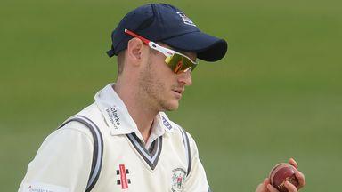 David Payne: The Gloucestershire bowler has figures of 3-36 against Kent at Sophia Gardens