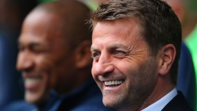 Tim Sherwood: All smiles after seeing off Fulham on Saturday