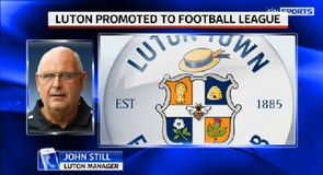 Luton promoted to Football League