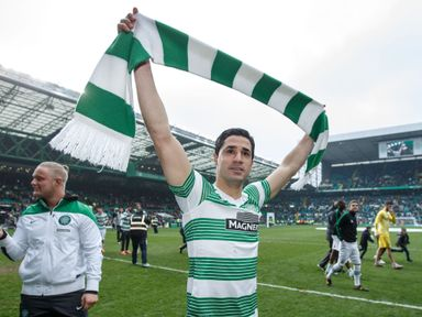 Celtic's Beram Kayal celebrates